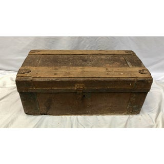 1910s Primitive Wood and Metal Trunk Preview