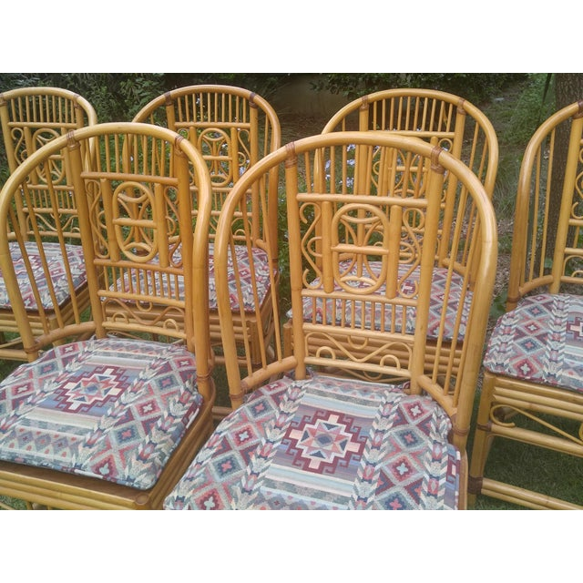 Brighton Rattan Chairs - Set of 6 - Image 3 of 5