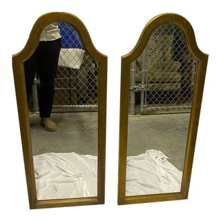 Mid 20th Century Gilt Wood Wall Mirrors- a Pair For Sale