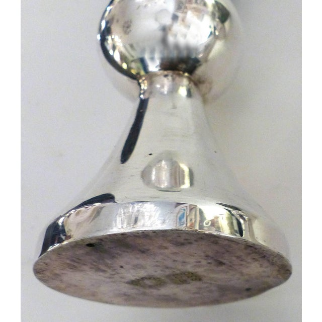 Los Castillo 'Taxco, Mexico' Silver Plate and Abalone Candle Holders - a Pair For Sale - Image 10 of 11