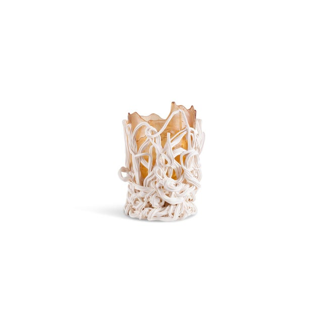 Gaetano Pesce Orange & White Resin Vase For Sale - Image 9 of 9