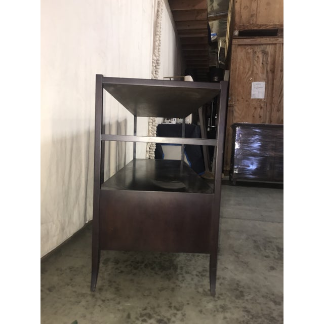 Traditional Espresso Stained Three Drawer Console For Sale - Image 3 of 9