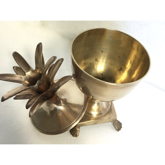 Brass Pineapple Lidded Container - Image 3 of 4