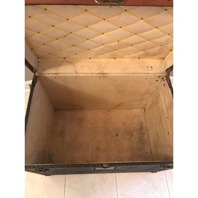 1925 Antique Goyard Steamer Luggage Trunk For Sale - Image 10 of 13