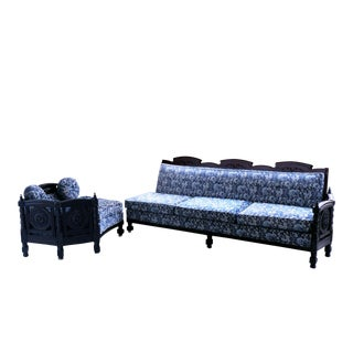 Mid-Century Rococo Gothic Louis XV Sectional - 2 Piece For Sale