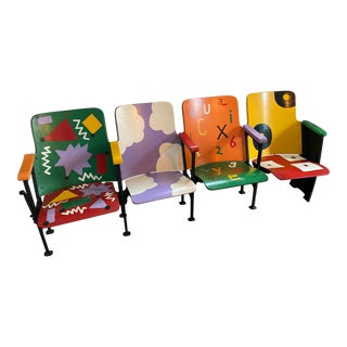 Vintage Theater Seats - Set of 4 For Sale