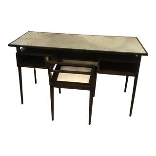 Herringbone Desk and Chair For Sale