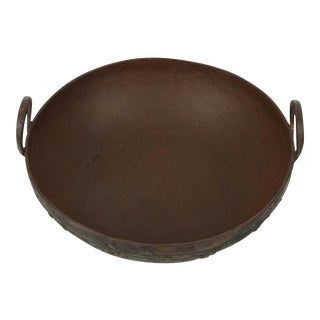 Large Metal Iron Pot From Southern India For Sale