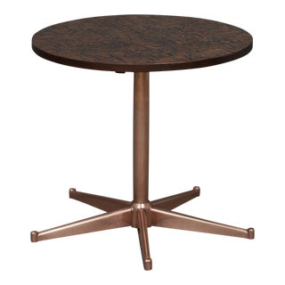 1970s Mid-Century Modern Round Copper Side Table