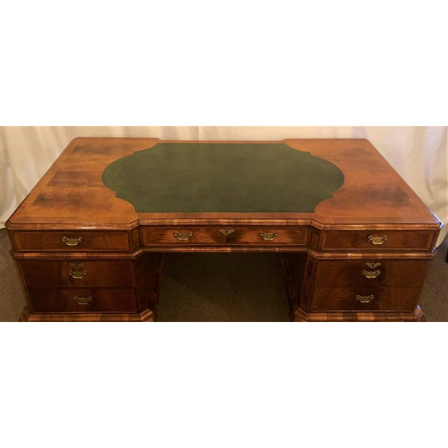 English Traditional Antique English Walnut Desk, Circa 1890-1900. For Sale - Image 3 of 5