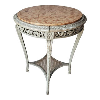 19th Century French Painted Louis XVI Side Table For Sale