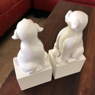 Jonathan Adler White Foo Dogs - a Pair Preview