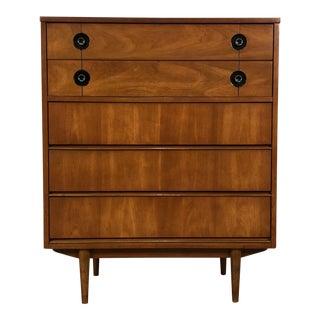 Stanley Finnline Mid-Century Modern 5-Drawer Dresser / Chest For Sale
