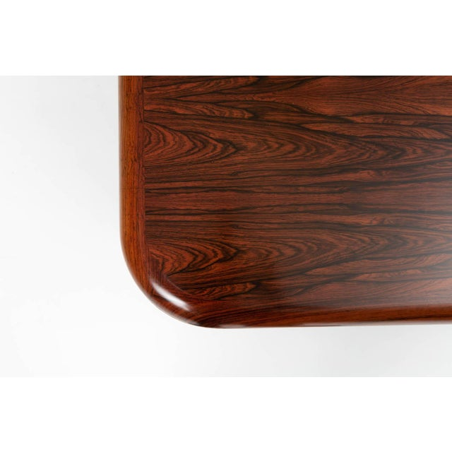 Brown Monumental Danish Rosewood Coffee Table For Sale - Image 8 of 9