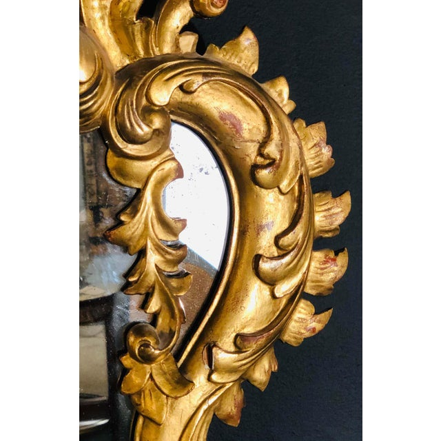 Gold 19th Century Gilt Mirror Wall or Console Mirror, French Finely Carved For Sale - Image 8 of 12