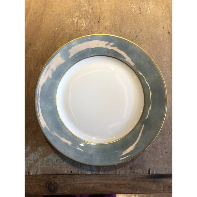 Manuel Canovas Set of Six Galuchat Plates by Manuel Canovas for Puiforcat For Sale - Image 4 of 13