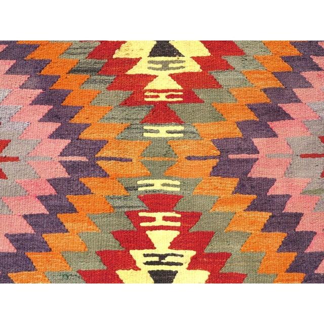 Vintage Turkish Kilim Rug For Sale - Image 4 of 8