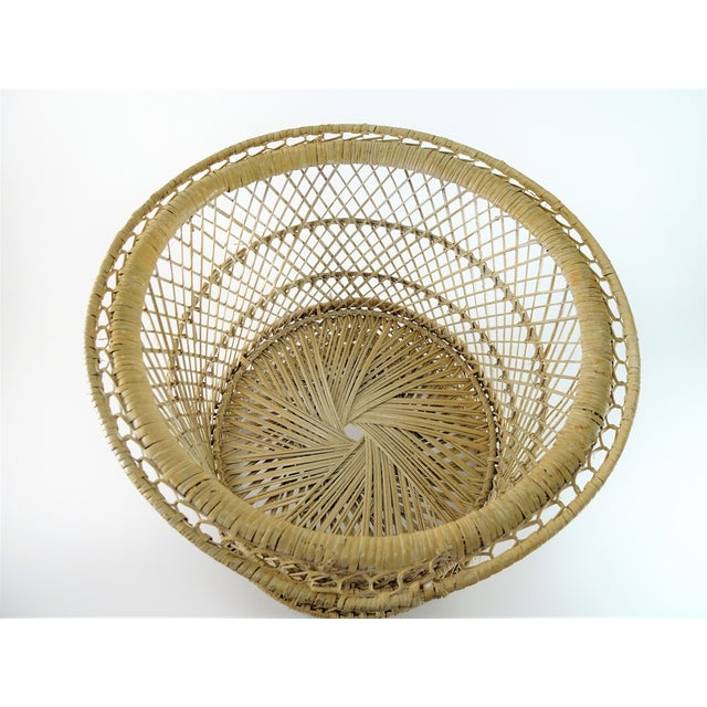 Boho Chic style wicker woven plant stand can be used in many different ways. Utilize as a basket for bath towels or place...