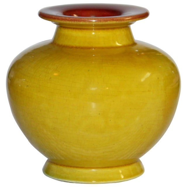 Yellow Antique Christopher Dresser Linthorpe Art Pottery Vase For Sale - Image 8 of 8