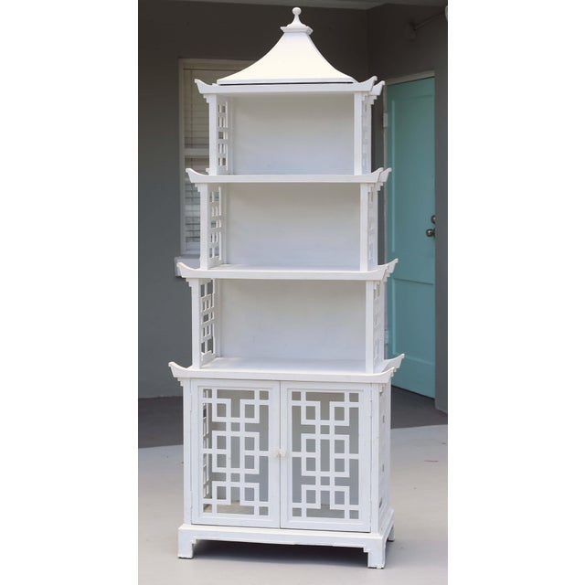 Vintage Fretwork Pagoda Bookcase or Etagere For Sale In Tampa - Image 6 of 12