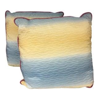 Lee Jofa Silk Pillows - A Pair For Sale