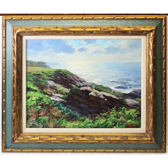 Blue Caddell Seascape of Belfast Maine For Sale - Image 8 of 8