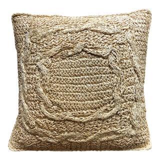 Sisal Colored Rafia Pillow For Sale