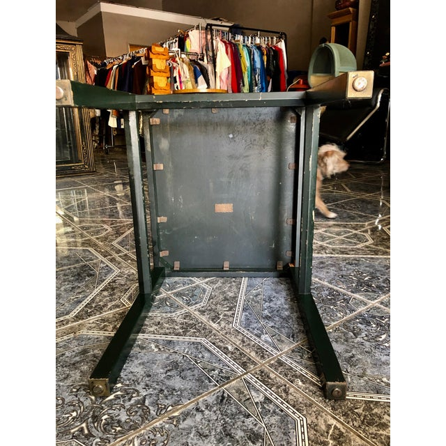 20th Century Rustic Kittinger Modern Painted Side Table For Sale - Image 9 of 11