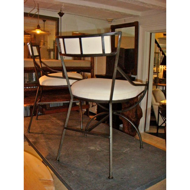Pair of Mid Century Iron Chairs - Image 5 of 8