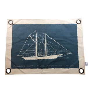 Restoration Hardware Child & Baby Nautical Wall Hanging For Sale