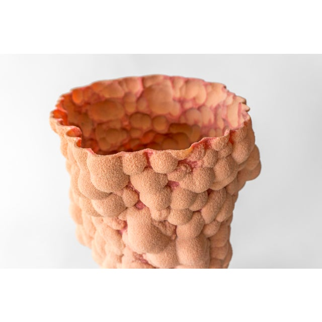 A vessel formed from Resin-Bonded Sand by Chicago designer Steven Haulenbeek. The RBS Series utilizes silica sand, a...