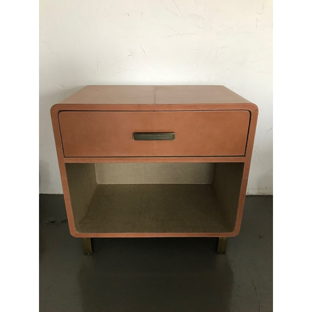 Made Goods Dante Double Nightstand in Aged Camel Leather For Sale - Image 13 of 13
