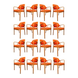 Set of 17 Don Pettit Armchairs for Knoll For Sale