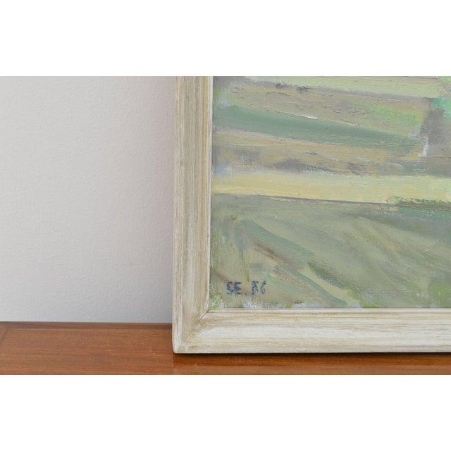 Landscape by Svend Engelund, signed SE 86 on back artist: Svend Engelund (b. Vrå 1908, d Mårslet 2007). known for his...