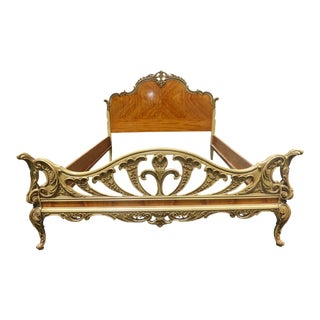 Antique Bed Frame Stewartstown Furniture ~ French Louis XVl Rococo Style Ornate Headboard For Sale