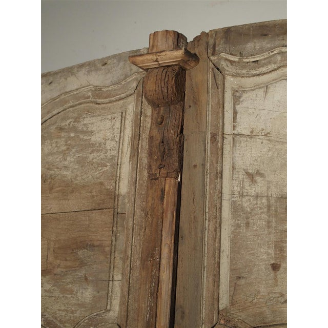 Mid 18th Century 1700s Antique French Oak Doors From Burgundy- A Pair For Sale - Image 5 of 13