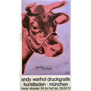 Andy Warhol 'Cow Wallpaper (Magenta)' 1983 Hand Signed Original Pop Art Poster For Sale