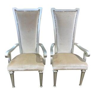 Aico by Michael Amini High Back Bel Air Park Desk Chairs - a Pair For Sale