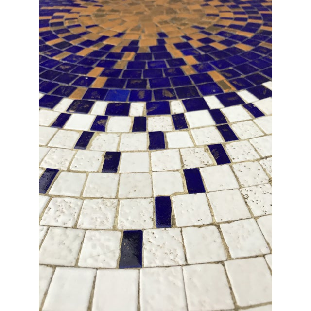 Berthold Muller Amazing Mosaic Tile Sunburst Brass Coffee Table Luberto For Sale - Image 4 of 13