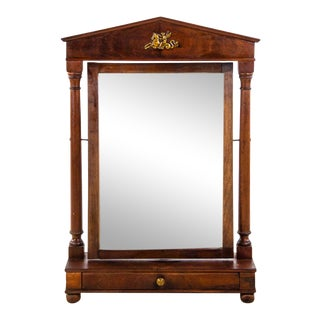 Late 19th Century Antique Georgian Dressing Table Vanity Swing Mirror For Sale