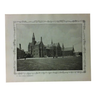 """1906 """"St. Pauls School - Hammersmith"""" Famous View of London Print For Sale"""