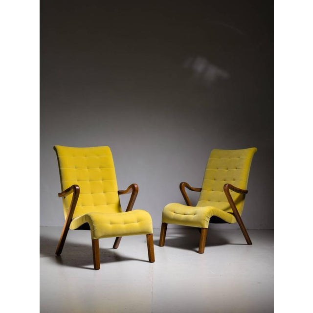 Excellent Axel Larsson Pair Of Lounge Chairs Denmark 1940S Spiritservingveterans Wood Chair Design Ideas Spiritservingveteransorg