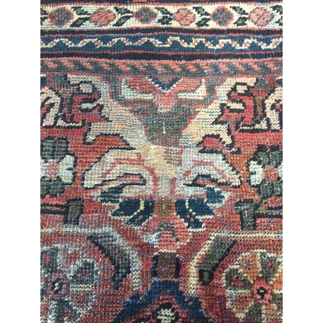 Islamic 1930s Vintage Distressed Persian Meshkabad Rug - 10′4″ × 13′6″ For Sale - Image 3 of 13