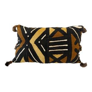 African Custom Made Bogolan Lumbar Mud Cloth Pillows For Sale