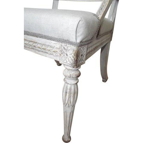 Gustavian (Swedish) Late 19th Century Lion Head Swedish Gustavian Chairs- A Pair For Sale - Image 3 of 7