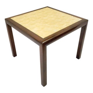 Mid Century Modern Capiz Walnut End Table For Sale
