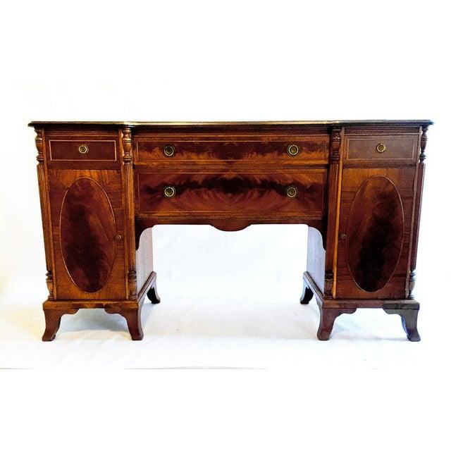 Wood Union National Fine Furnishings Mahogany Buffet For Sale - Image 7 of 7