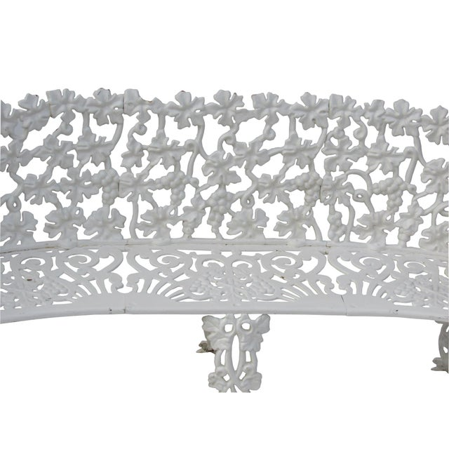 Victorian Cast Iron Footed Garden Bench - Image 2 of 7