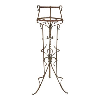 Art Nouveau French Iron Jardiniere For Sale