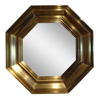 Michel Pigneres French Octagonal Brass Mirror